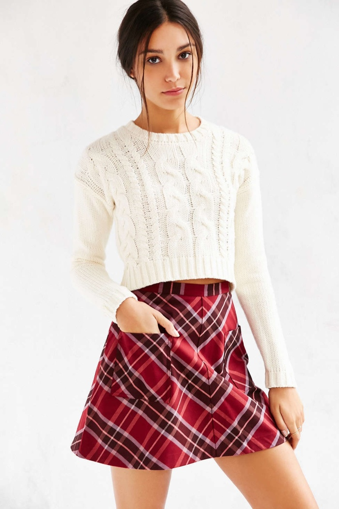 Shop Mini Plaid Skirts