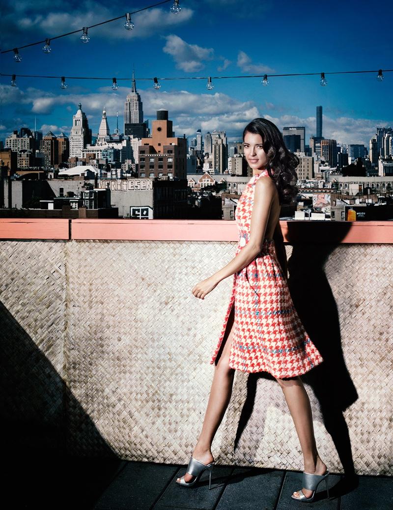 Stephanie wears Miu Miu dress
