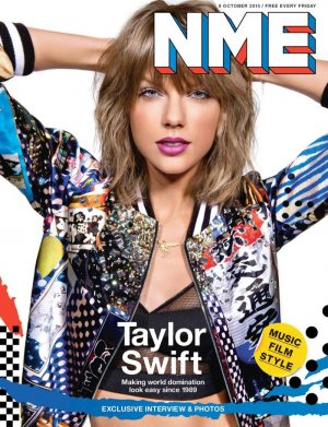 Taylor Swift Pops on NME Magazine's October Cover