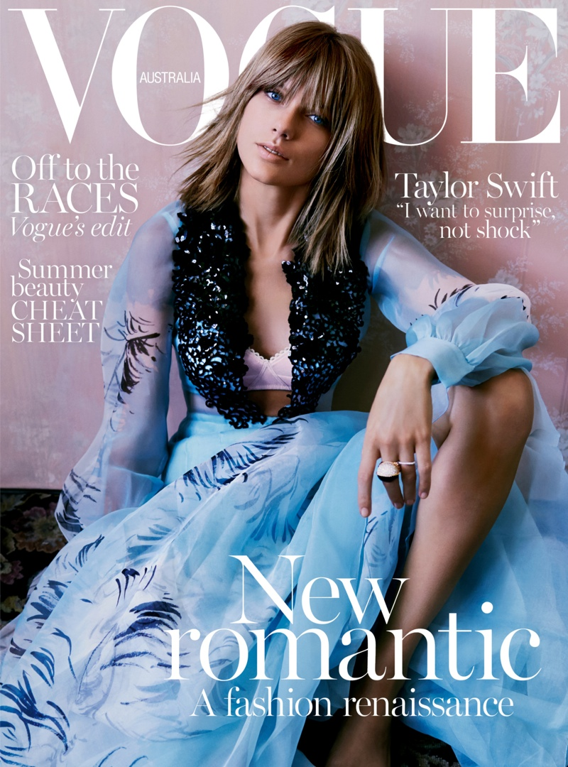 Taylor Swift Gets Romantic For Vogue Australia November 2015 Cover Story