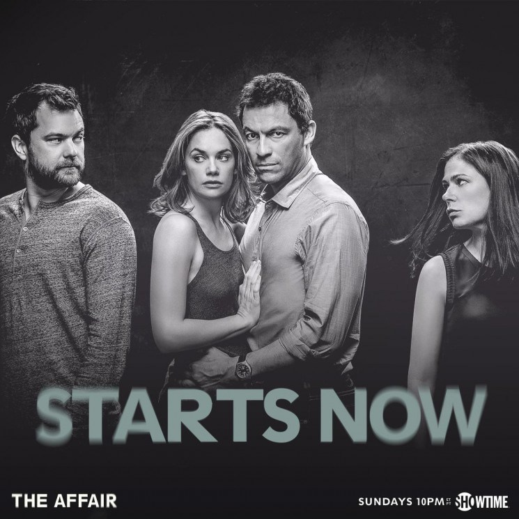 The cast of Showtime's 'The Affair' pose for season 2 artwork with these moody black and white images. Actors Ruth Wilson, Maura Tierney, Dominic West and Joshua Jackson star in the hit drama.