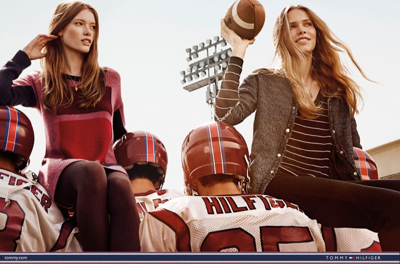 Behati Prinsloo, Cora Emmanuel, Kirstin Liljegren - Tommy Hilfiger`s Sporty Fall Campaign