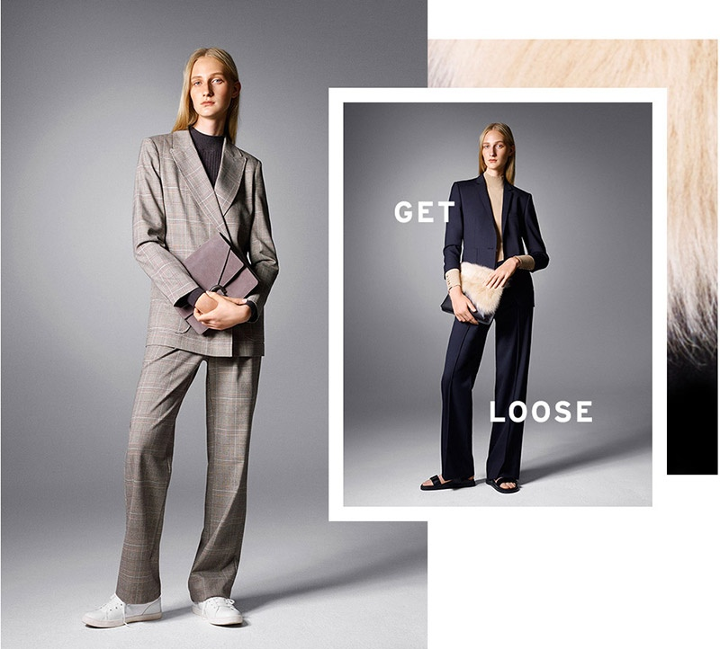 Topshop Belted Check Suit Jacket & Trousers, Topshop Premium Slouchy Blazer & Trousers
