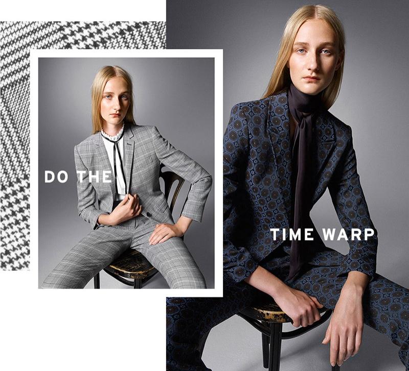 Topshop Premium Check Suit Blazer & Pants, Topshop Jacquard Suit Blazer and Flares