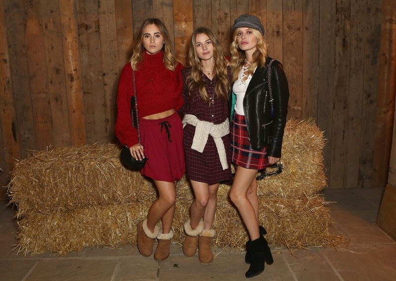 Georgia May Jagger, Suki & Immy Waterhouse Step Out in Style for UGG Event