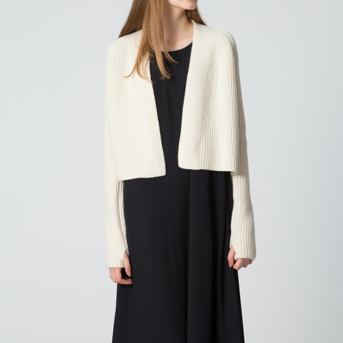 UNIQLO and Lemaire Women Lambswool Cropped Cardigan