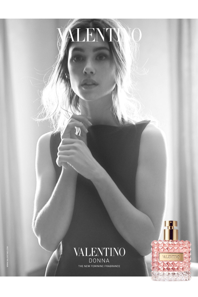 Astrid Berges-Frisbe Goes Classic For Valentino Donna Fragrance