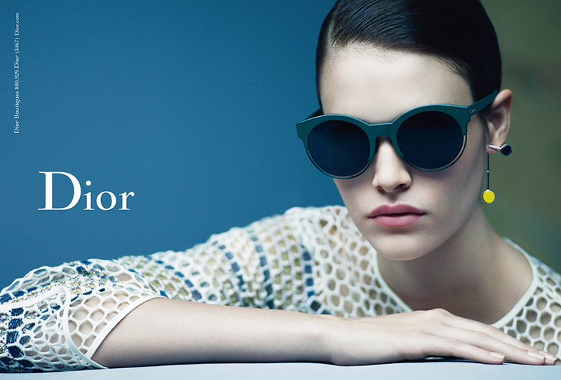 Vanessa Moody stars in Dior Eyewear fall-winter 2015 campaign