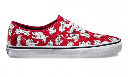 Vans x Disney Authentic Red Sneakers with 101 Dalmatians