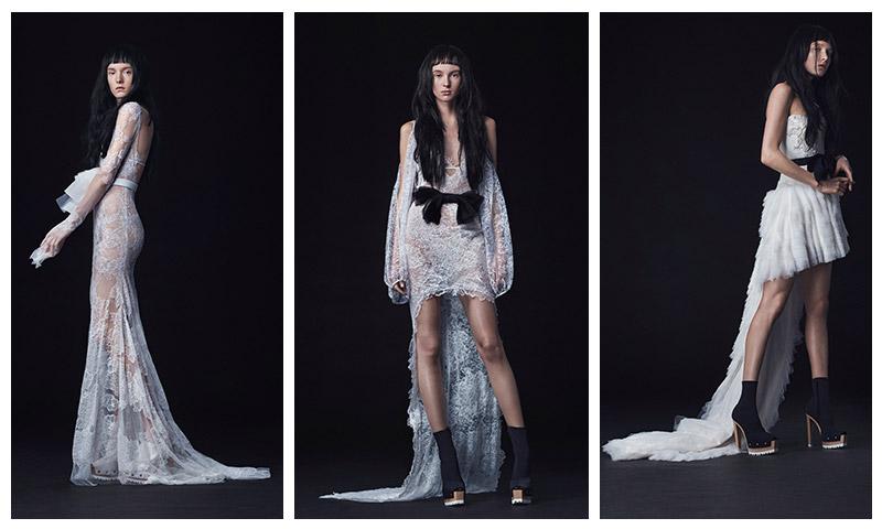 Vera Wang Bridal Embraces High Hemlines For Fall 2016