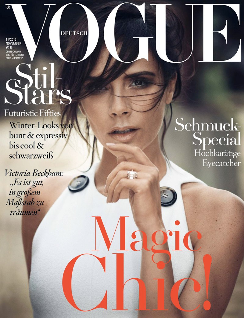 Victoria Beckham Wows in White for Vogue Germany Cover