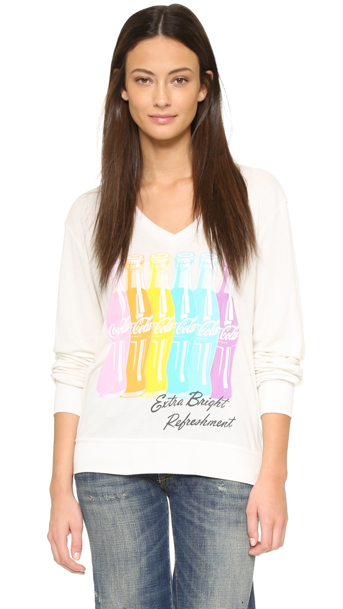 Wildfox x Coca Cola Bright Sweatshirt