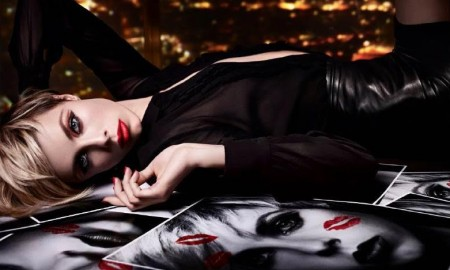 Edie Campbell for YSL Beauty Kiss & Love Holiday 2015 Campaign
