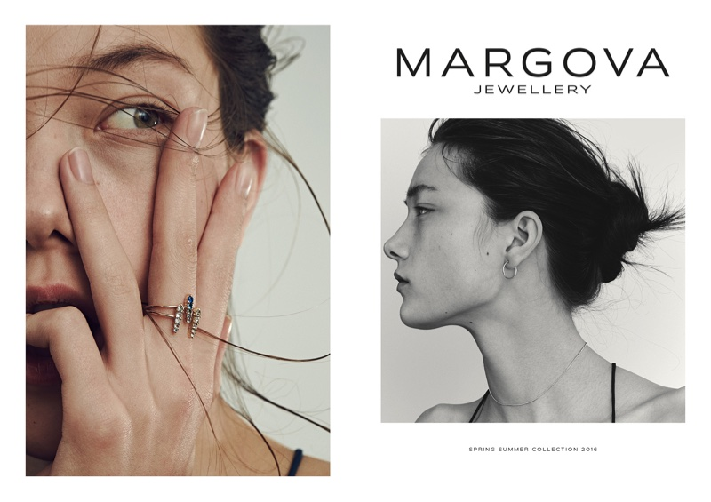 Yumi Lambert stars in Margova Jewelry's spring-summer 2016 lookbook