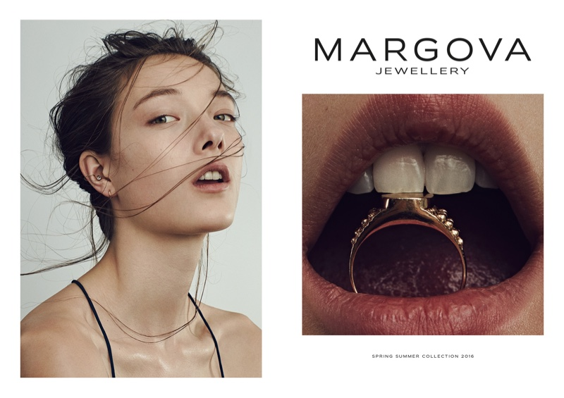 Yumi Lambert is a Natural Beauty in Margova Jewellery