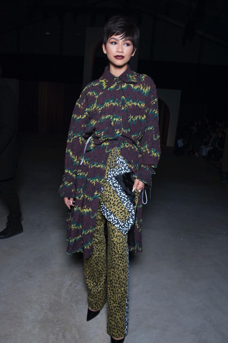 Zendaya Attends The Kenzo Spring 2016 Show In Paris