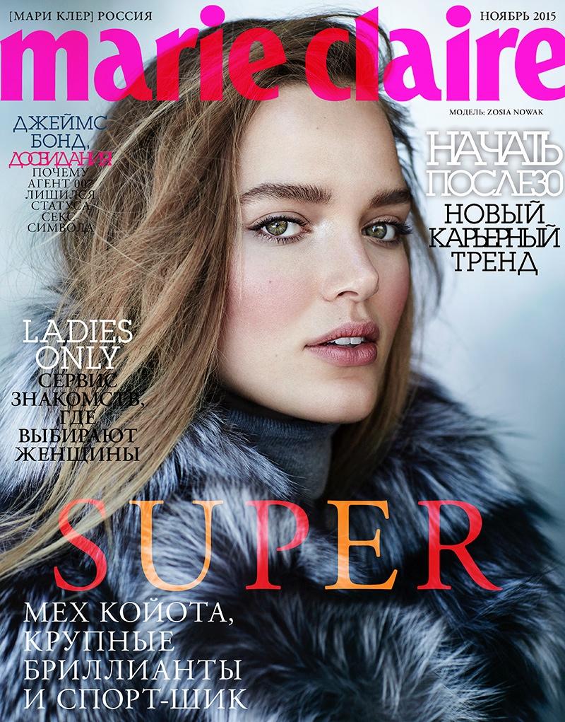 Zosia Nowak - Marie Claire Russia November 2015