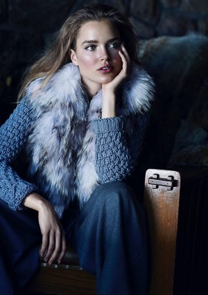 Zosia Nowak Models Cozy Style for Marie Claire Russia by Chris Nicholls