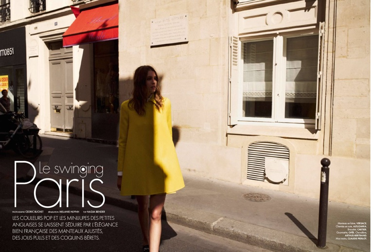 Nadja Bender Wears 60s Style For Today In ELLE France October 2015