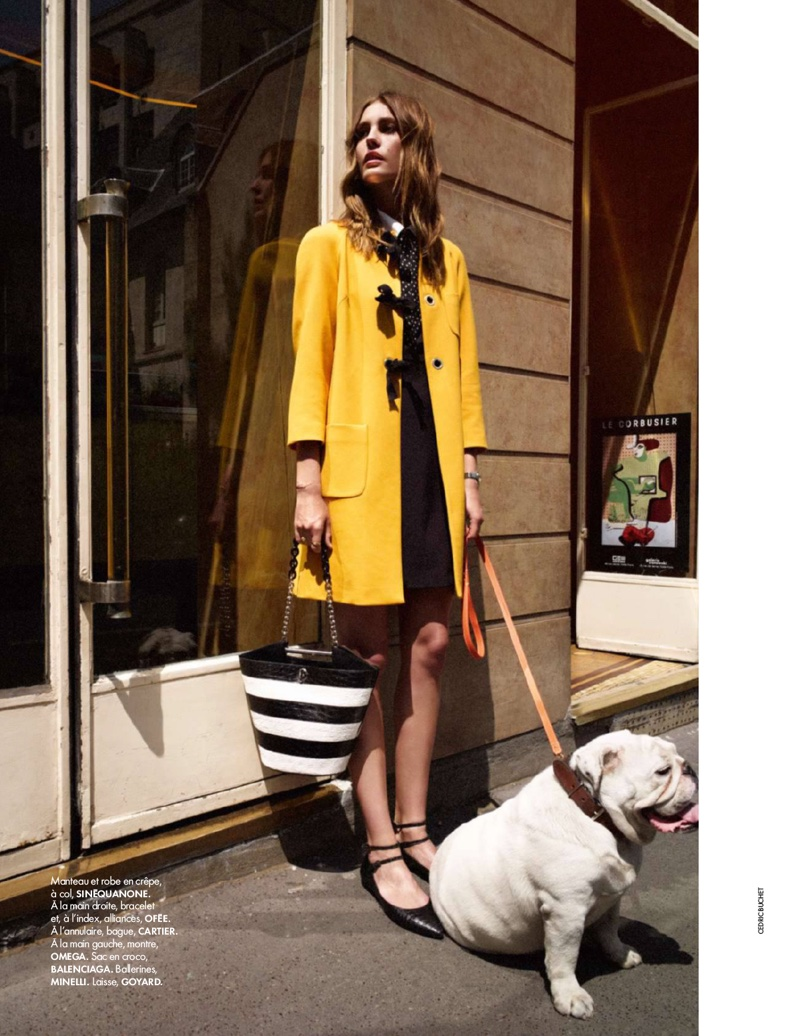 Nadja Bender Wears 60S Style For Today In Elle France-6296