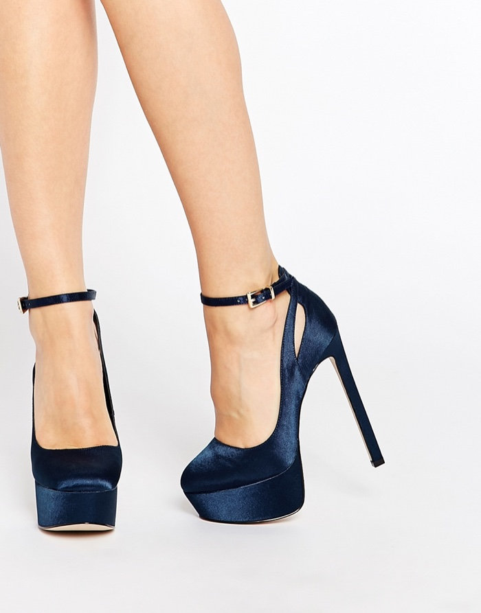 Blue High Ankle Shoes