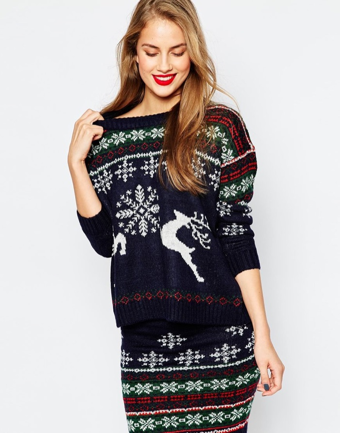 Only christmas sweater with cat asos red naughty christmas sweater