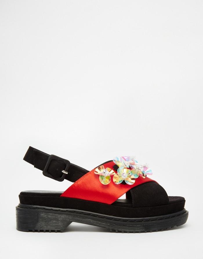 A V Robertson x ASOS Black Chunky Sandals