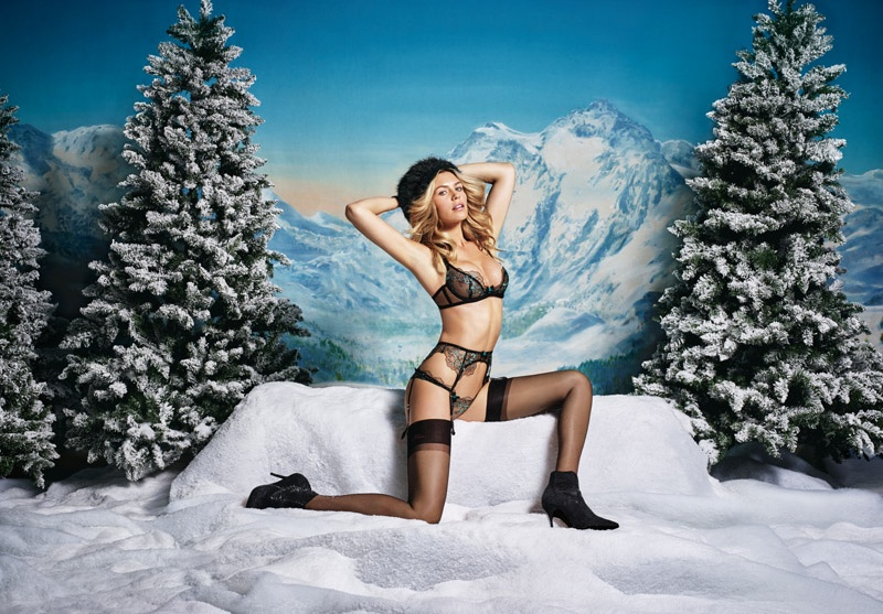 Abbey Clancy stars in Agent Provocateur's Christmas 2015 lookbook