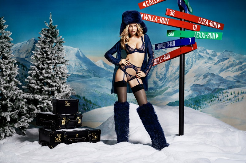 Abbey Clancy Has a Very Sexy Holiday in Agent Provocateur