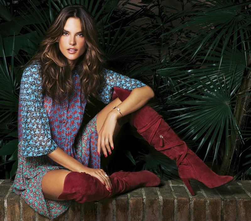 Alessandra models bohemian inspired looks for the shoot