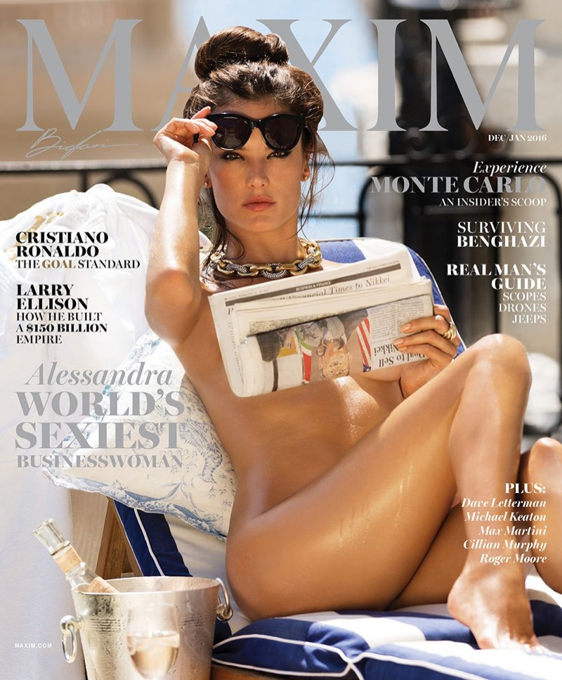 Alessandra Ambrosio on Maxim Magazine December-January 2015.2016 cover