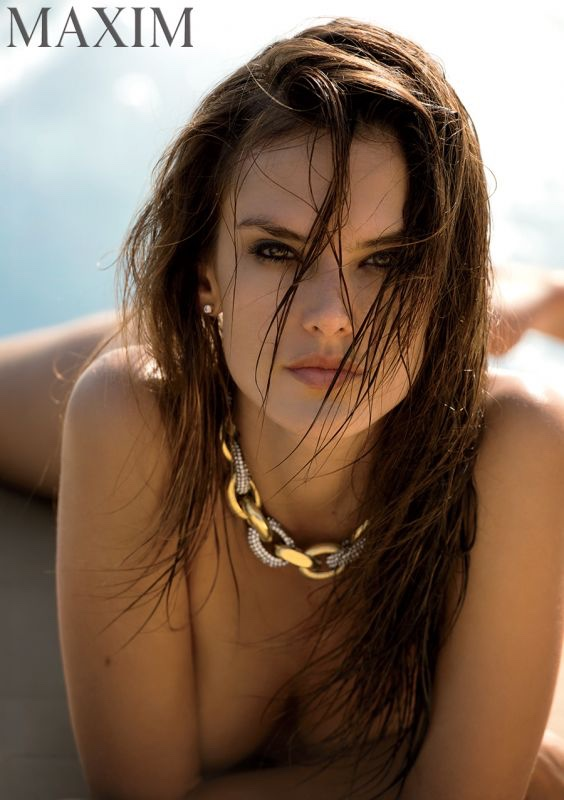 Alessandra poses naked in Maxim Magazine