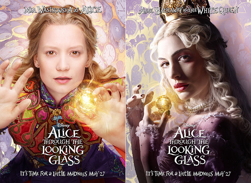 Anne Hathaway, Mia Wasikowska Star on 'Alice Through the Looking Glass' Posters