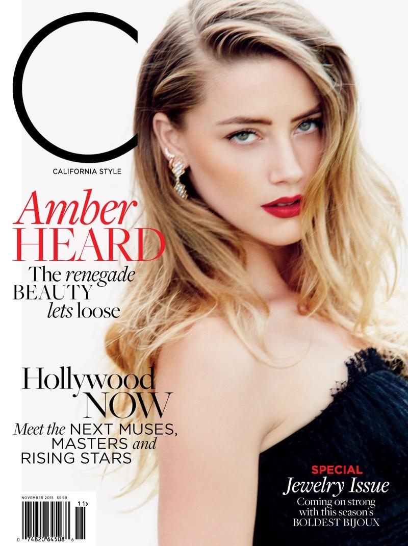 Amber Heard on C Magazine November 2015 cover