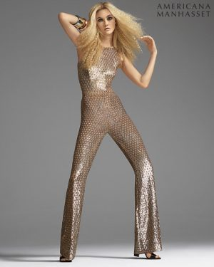 Caroline Trentini Gets Glam in Americana Manhasset's Holiday Lookbook