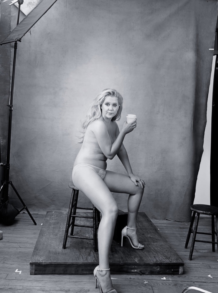 Amy Schumer for the 2016 Pirelli calendar