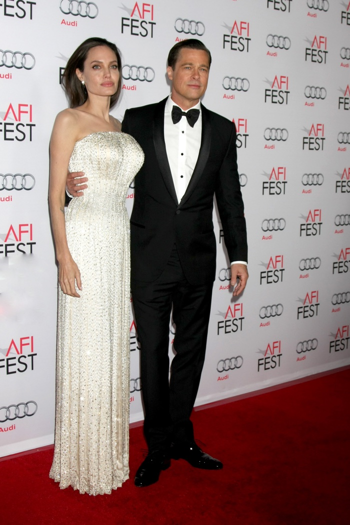 Angelina Jolie and Brad Pitt at the By the Sea AFI FEST Premiere.