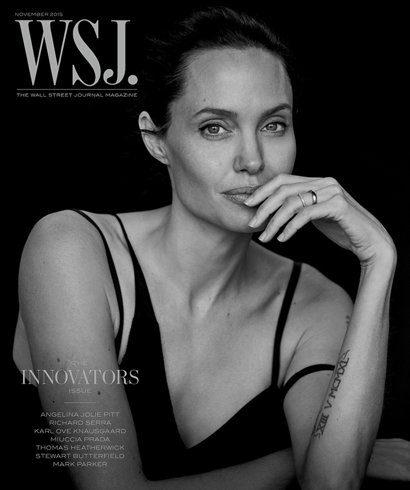 Angelina Jolie Poses for Peter Lindbergh in WSJ. Magazine