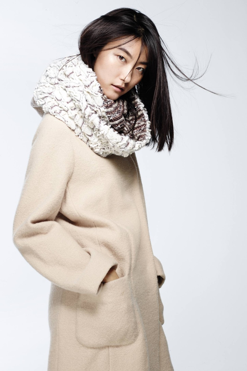 Ausaria Infinity Scarf, Moth Boiled Wool Sweater Coat