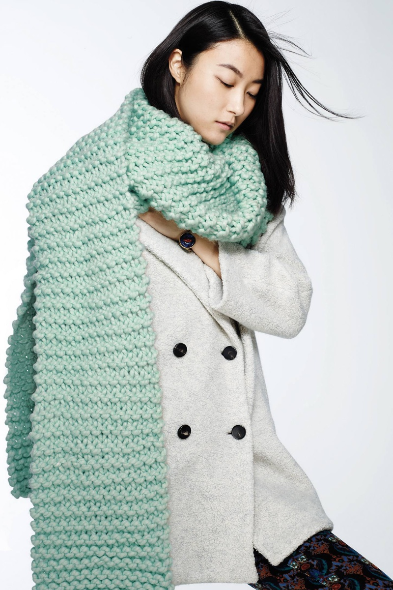 Anthropologie Snow Day Scarf, MiH Larking Peacoat