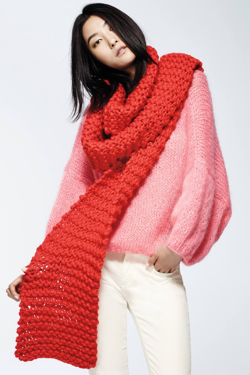 Snow Day Scarf, Mes Demoiselles Blushberry Pullover