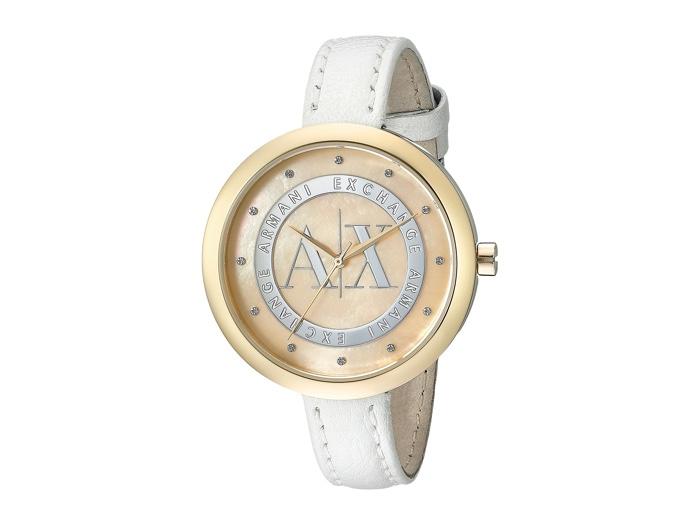 Armani Exchange White & Gold Juliette Watch