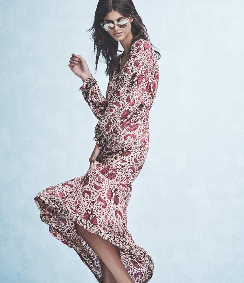 DITA Heartbreaker Sunglasses, Natalie Martin April Maxi Dress