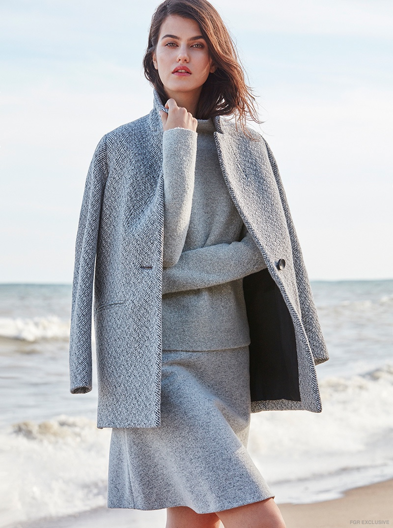 Sweater & Skirt Theory available at The Bay, Coat Maje
