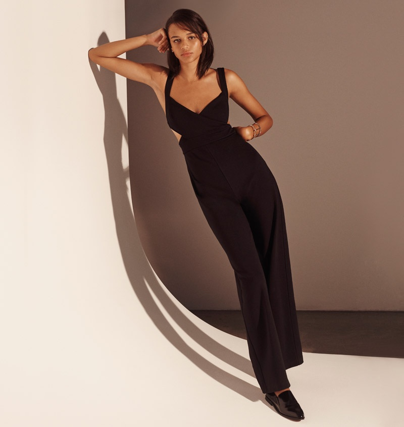 Binx Walton Wears Tailored Jumpsuits for Urban Outfitters' Holiday Catalog