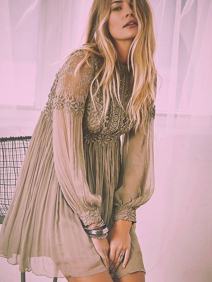 Free People Lou Lou Babydoll Dress