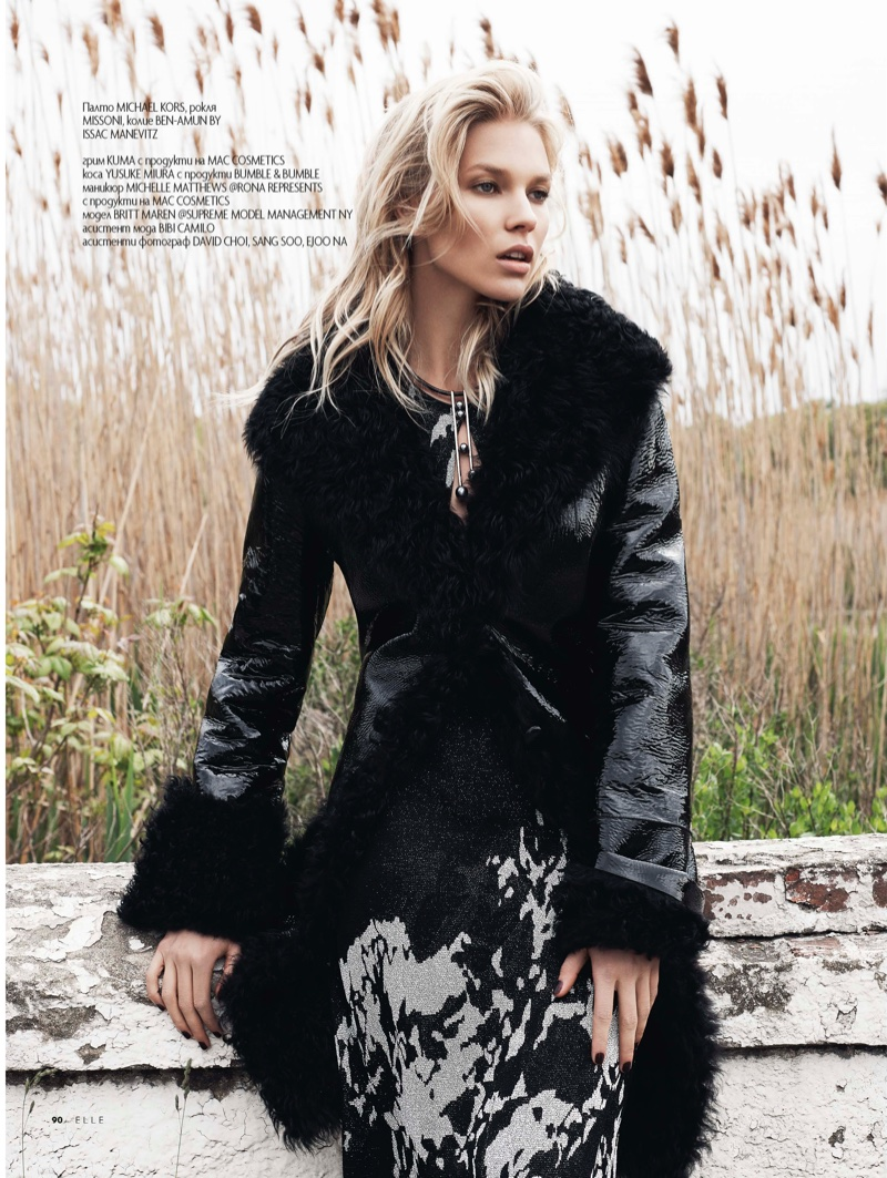Britt Maren Wears Cozy Fall Style for ELLE Bulgaria Editorial
