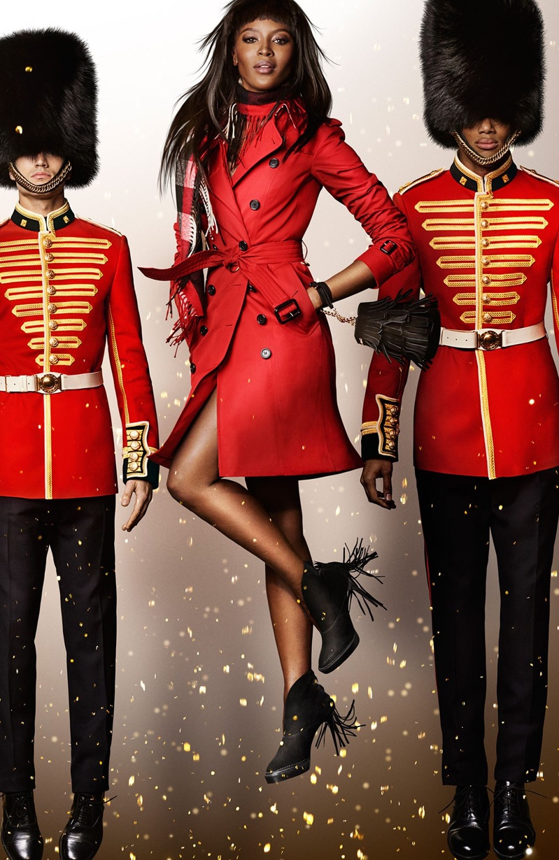 Naomi Campbell for Burberry Festive 2015 campaign