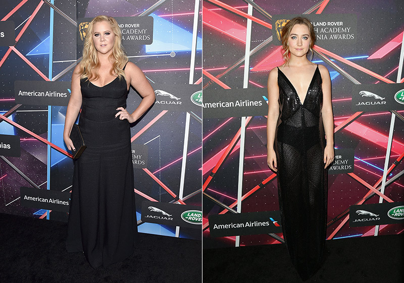 Amy Schumer & Saoirse Ronan Step Out in Calvin Klein at the 2015 Britannia Awards