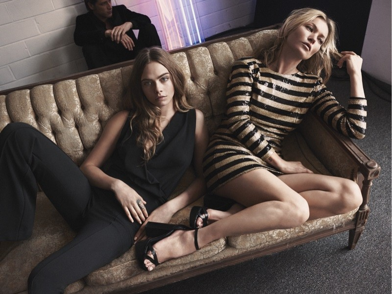 Cara Delevingne and Kate Moss star in Mango's 2015 Evening collection